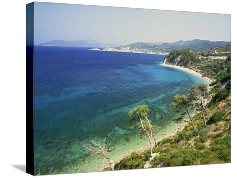 Beach and Coastline Near Kokkari, Samos, Dodecanese Islands, Greek Islands, Greece, Europe-David Beatty-Stretched Canvas Print