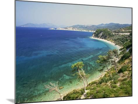 Beach and Coastline Near Kokkari, Samos, Dodecanese Islands, Greek Islands, Greece, Europe-David Beatty-Mounted Photographic Print