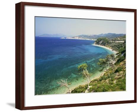 Beach and Coastline Near Kokkari, Samos, Dodecanese Islands, Greek Islands, Greece, Europe-David Beatty-Framed Art Print
