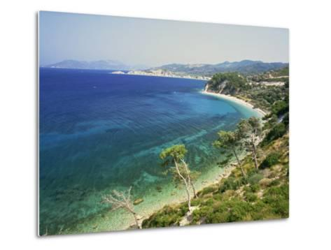 Beach and Coastline Near Kokkari, Samos, Dodecanese Islands, Greek Islands, Greece, Europe-David Beatty-Metal Print