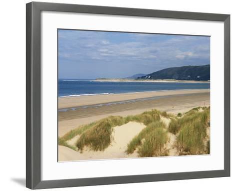 Sand Dunes and Borth Beach, Ynyslas, Borth, Dyfed, Wales, United Kingdom, Europe-Pearl Bucknall-Framed Art Print