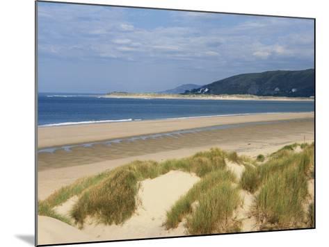 Sand Dunes and Borth Beach, Ynyslas, Borth, Dyfed, Wales, United Kingdom, Europe-Pearl Bucknall-Mounted Photographic Print