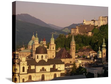 City Skyline, Salzburg, Austria, Europe-Jean Brooks-Stretched Canvas Print
