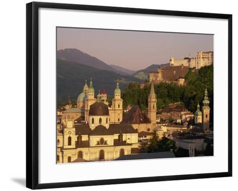 City Skyline, Salzburg, Austria, Europe-Jean Brooks-Framed Art Print