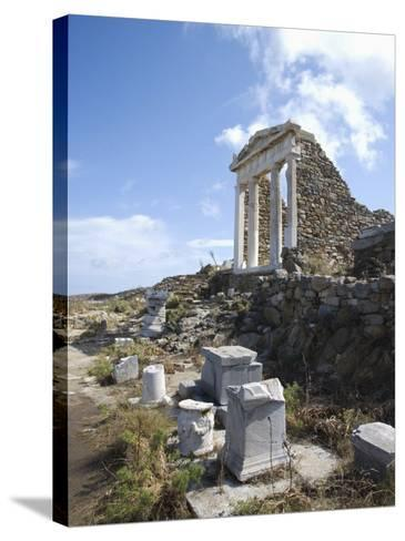 Temple of Isis, Island of Delos, Cyclades, Greek Islands, Greece, Europe-Angelo Cavalli-Stretched Canvas Print