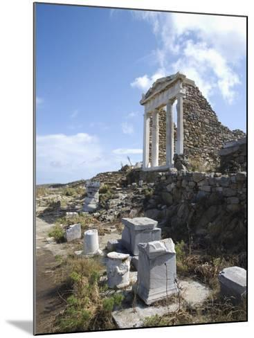 Temple of Isis, Island of Delos, Cyclades, Greek Islands, Greece, Europe-Angelo Cavalli-Mounted Photographic Print