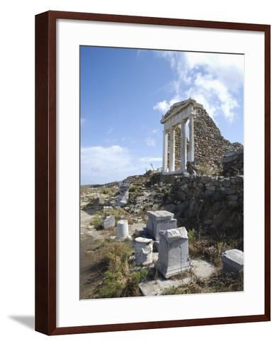 Temple of Isis, Island of Delos, Cyclades, Greek Islands, Greece, Europe-Angelo Cavalli-Framed Art Print