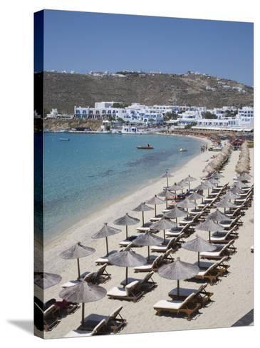 Beach of Platys Gyalis, Mykonos, Cyclades, Greek Islands, Greece, Europe-Angelo Cavalli-Stretched Canvas Print