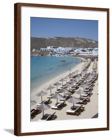 Beach of Platys Gyalis, Mykonos, Cyclades, Greek Islands, Greece, Europe-Angelo Cavalli-Framed Art Print