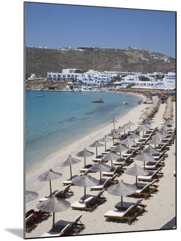 Beach of Platys Gyalis, Mykonos, Cyclades, Greek Islands, Greece, Europe-Angelo Cavalli-Mounted Photographic Print
