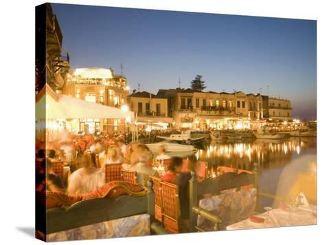 Waterfront, Rethymnon, Crete, Greece, Europe-Angelo Cavalli-Stretched Canvas Print