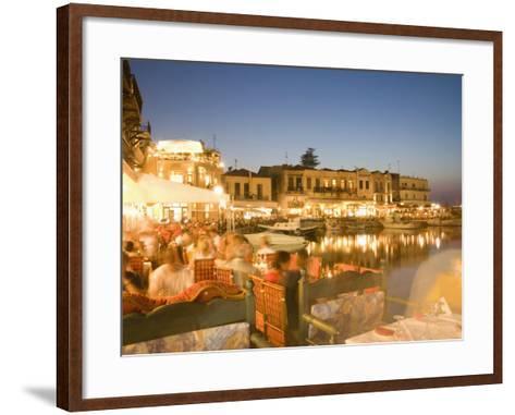 Waterfront, Rethymnon, Crete, Greece, Europe-Angelo Cavalli-Framed Art Print