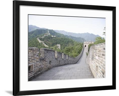 Great Wall at Mutyanyu, UNESCO World Heritage Site, Beijing, China-Angelo Cavalli-Framed Art Print