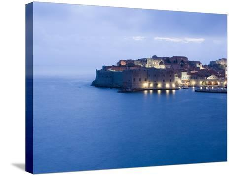 Evening View of Harbour and Waterfront of Dubrovnik Old Town, Dalmatia, Croatia, Adriatic, Europe-Martin Child-Stretched Canvas Print
