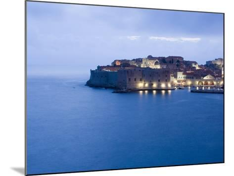 Evening View of Harbour and Waterfront of Dubrovnik Old Town, Dalmatia, Croatia, Adriatic, Europe-Martin Child-Mounted Photographic Print