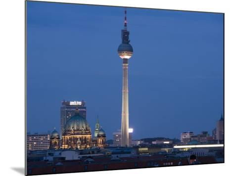 Fernsehturm, Television Tower, Telespargel, Evening, Berlin, Germany, Europe-Martin Child-Mounted Photographic Print
