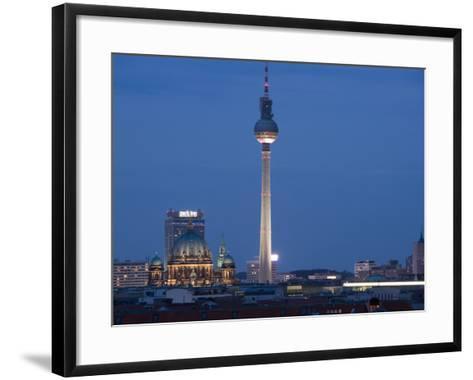 Fernsehturm, Television Tower, Telespargel, Evening, Berlin, Germany, Europe-Martin Child-Framed Art Print