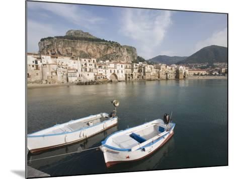 Traditional Fishing Boats and Fishermens Houses, Cefalu, Sicily, Italy, Europe-Martin Child-Mounted Photographic Print