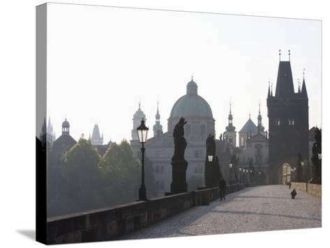 Charles Bridge, Church of St. Francis Dome, Old Town Bridge Tower, Old Town, Prague, Czech Republic-Martin Child-Stretched Canvas Print