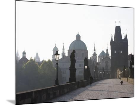 Charles Bridge, Church of St. Francis Dome, Old Town Bridge Tower, Old Town, Prague, Czech Republic-Martin Child-Mounted Photographic Print