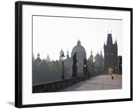 Charles Bridge, Church of St. Francis Dome, Old Town Bridge Tower, Old Town, Prague, Czech Republic-Martin Child-Framed Art Print