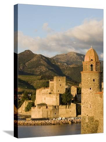 Morning Light, Eglise Notre-Dame-Des-Anges, Collioure, Pyrenees-Orientales, Languedoc, France-Martin Child-Stretched Canvas Print