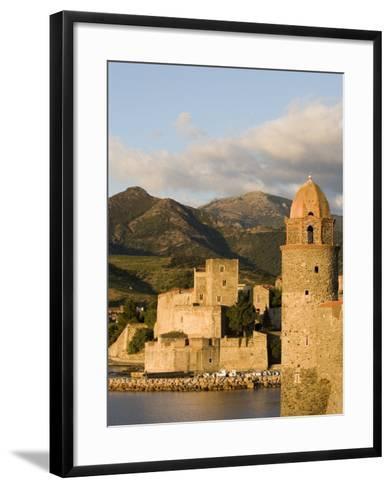 Morning Light, Eglise Notre-Dame-Des-Anges, Collioure, Pyrenees-Orientales, Languedoc, France-Martin Child-Framed Art Print