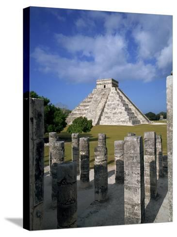 El Castillo from Mil Columnas, Grupo Delas, Chichen Itza, Yucatan, Mexico-Rob Cousins-Stretched Canvas Print