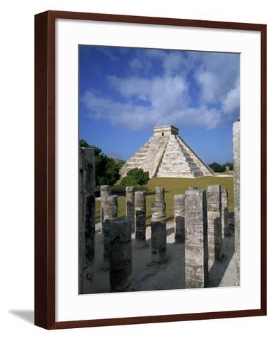El Castillo from Mil Columnas, Grupo Delas, Chichen Itza, Yucatan, Mexico-Rob Cousins-Framed Art Print