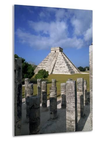 El Castillo from Mil Columnas, Grupo Delas, Chichen Itza, Yucatan, Mexico-Rob Cousins-Metal Print
