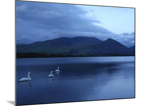 Twilight at Bassenthwaite Lake, Lake District National Park, Cumbria, England, United Kingdom-Rob Cousins-Mounted Photographic Print