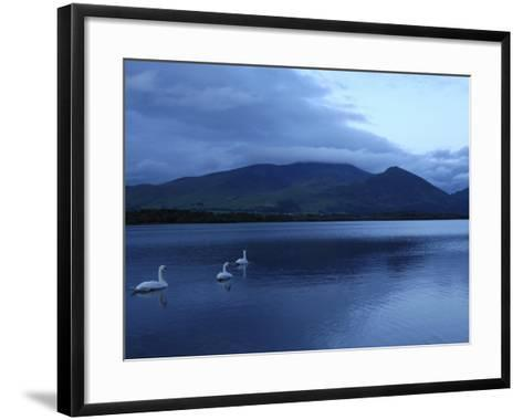 Twilight at Bassenthwaite Lake, Lake District National Park, Cumbria, England, United Kingdom-Rob Cousins-Framed Art Print
