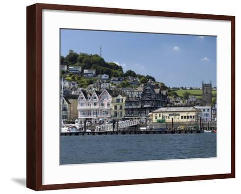Dartmouth Waterfront, South Devon, England, United Kingdom, Europe-Rob Cousins-Framed Art Print