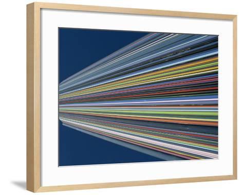 Striped Tower Monument, La Defense, Paris, France, Europe-Neale Clarke-Framed Art Print