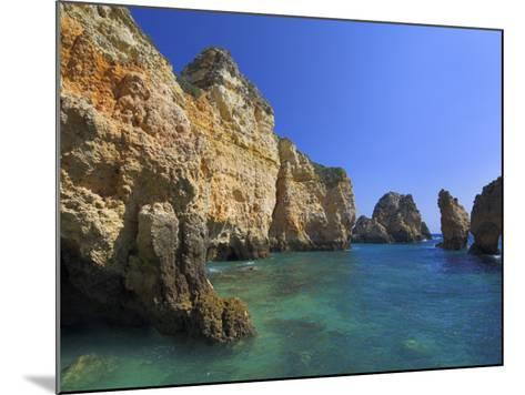 Rock Arches and Cliffs at Ponte Da Piedade Near Lagos, Algarve, Portugal, Europe-Neale Clarke-Mounted Photographic Print