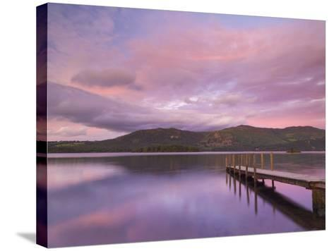 Sunset, Hawes End Landing Stage Jetty, Derwent Water, Lake District, Cumbria, England, UK-Neale Clarke-Stretched Canvas Print