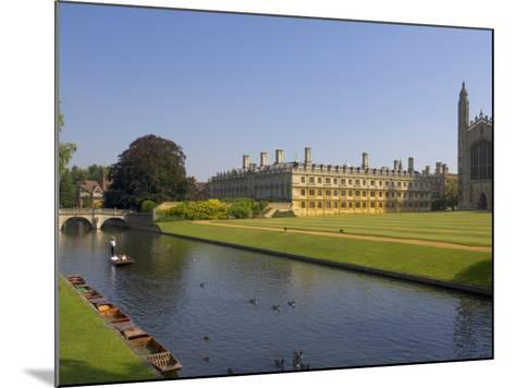 Clare College and Kings College Chapel, Cambridge, Cambridgeshire, England, United Kingdom, Europe-Neale Clarke-Mounted Photographic Print