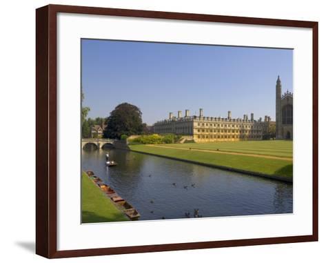 Clare College and Kings College Chapel, Cambridge, Cambridgeshire, England, United Kingdom, Europe-Neale Clarke-Framed Art Print