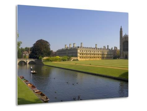 Clare College and Kings College Chapel, Cambridge, Cambridgeshire, England, United Kingdom, Europe-Neale Clarke-Metal Print