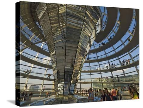 Reichstag Building, Designed by Sir Norman Foster, Berlin, Germany-Neale Clarke-Stretched Canvas Print