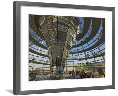 Reichstag Building, Designed by Sir Norman Foster, Berlin, Germany-Neale Clarke-Framed Art Print