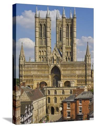 West Front of Lincoln Cathedral and Exchequer Gate, Lincoln, Lincolnshire, England, United Kingdom-Neale Clarke-Stretched Canvas Print