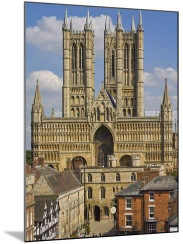 West Front of Lincoln Cathedral and Exchequer Gate, Lincoln, Lincolnshire, England, United Kingdom-Neale Clarke-Mounted Photographic Print