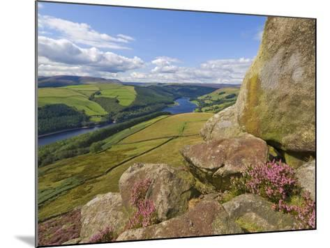 Ladybower Reservoir, Whinstone Lee Tor, Derwent Edge, Peak District National Park, England-Neale Clarke-Mounted Photographic Print