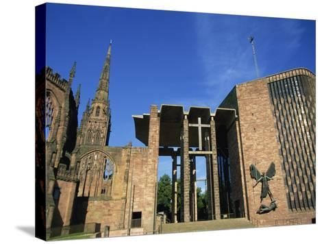 Cathedral Church of St. Michael, Old and New, Coventry, Warwickshire, West Midlands, England, UK-Neale Clarke-Stretched Canvas Print