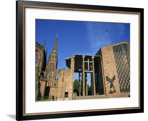 Cathedral Church of St. Michael, Old and New, Coventry, Warwickshire, West Midlands, England, UK-Neale Clarke-Framed Art Print