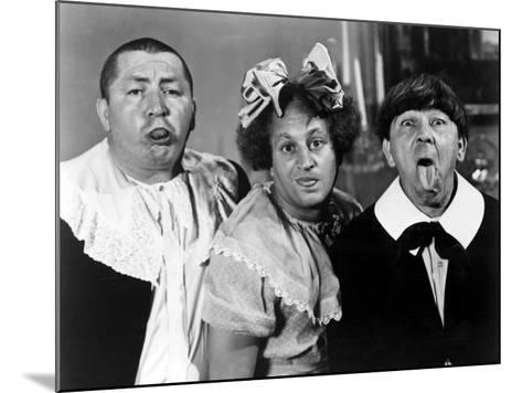 All the World's a Stooge, Curly Howard, Larry Fine, Moe Howard, 1941--Mounted Photo