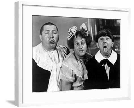 All the World's a Stooge, Curly Howard, Larry Fine, Moe Howard, 1941--Framed Art Print