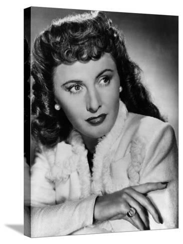 Christmas in Connecticut, Barbara Stanwyck, 1945--Stretched Canvas Print