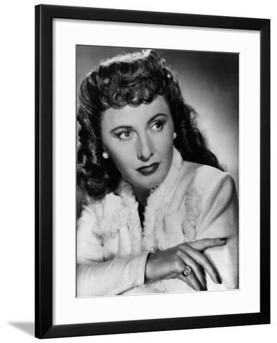 Christmas in Connecticut, Barbara Stanwyck, 1945--Framed Art Print